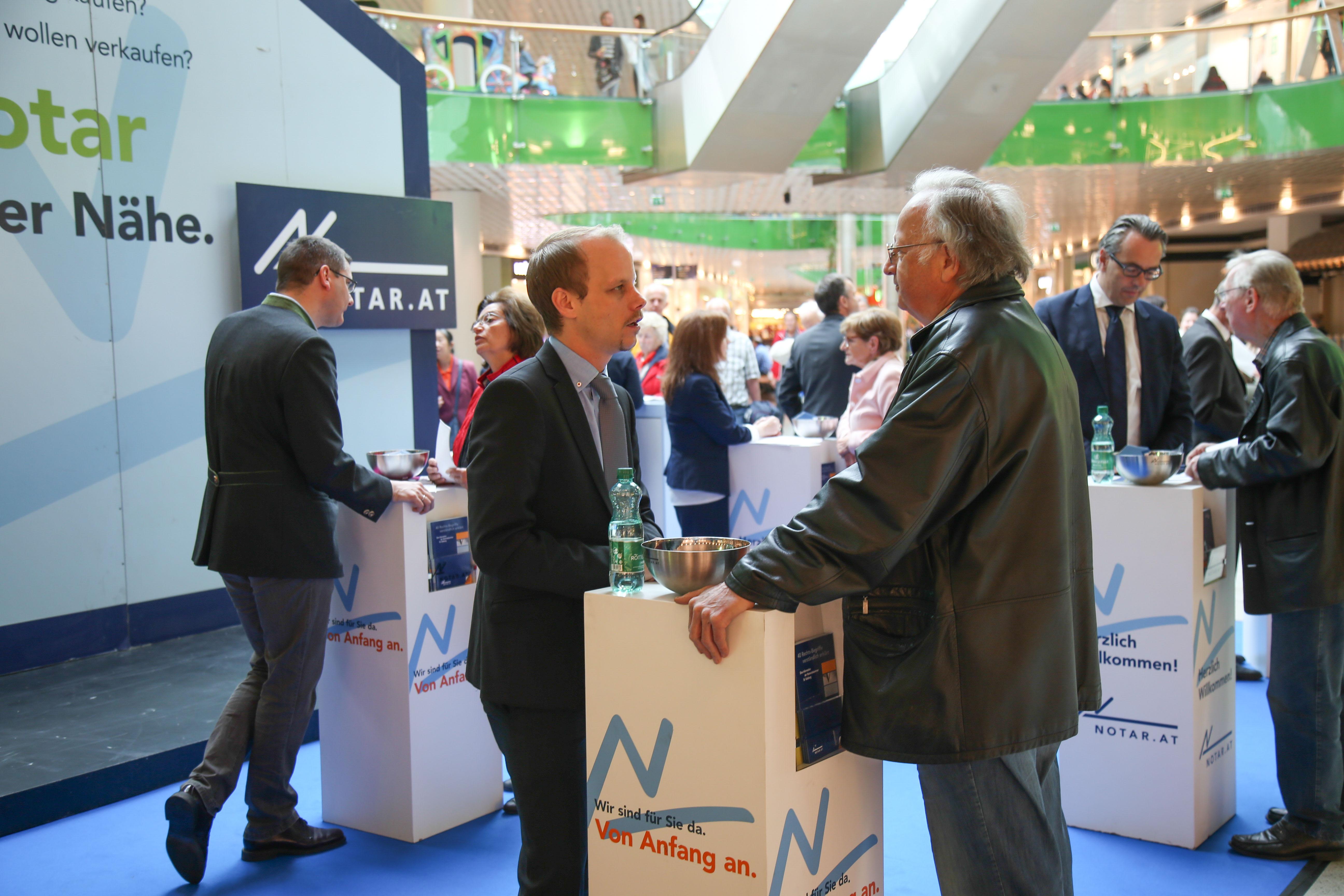 Die Salzburger Notare informierten im Rahmen der Immobilientage im Europark.
