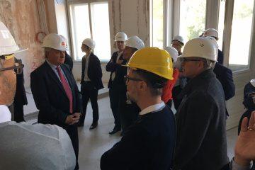 Vorbesichtigung des neuen Landesgerichtes Salzburg