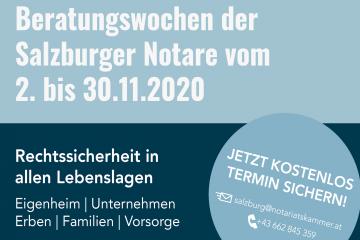 Beratungswochen der Salzburger Notare im November 2020