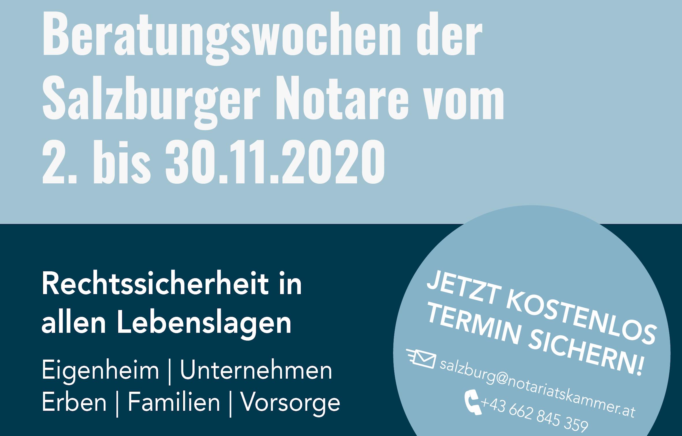 Beratungswochen der Salzburger Notare im November
